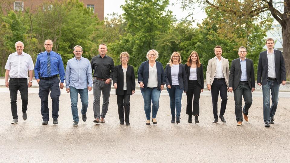 Anita Kym (Mitte), Präsidentin der Gewerbevereins Möhlin und Umgebung, präsidiert das elfköpfige Organisationskomitee für die nächste Gewerbeausstellung in Möhlin. Foto: zVg